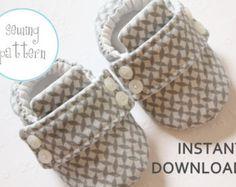Artículos similares a patrón de zapatos de bebé, bebé Abby y Aaron, PDF tutorial de coser a patrones en Etsy, bebé de coser zapato patrón y patrón, hasta en Etsy