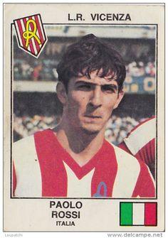 PANINI EURO FOOTBALL 1979 PAOLO ROSSI VICENZA ITALIA