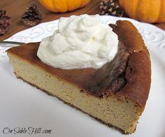 Grain and refined sugar free version of the seasonal classic - Pumpkin Cheesecake.