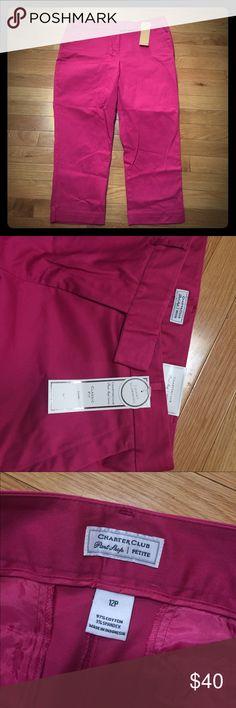 "NWT Charter Club Pink Classic Fit Capri Pants 12P Brand new. Classic fit. Tummy slimming. 21"" inseam. (V202) Charter Club Pants Capris"