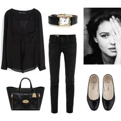 17 ideas to combine your outfits with black flats – French Style French Fashion, Look Fashion, Winter Fashion, Fashion Outfits, Womens Fashion, Classic Fashion, Ladies Fashion, Cheap Fashion, Dress Fashion