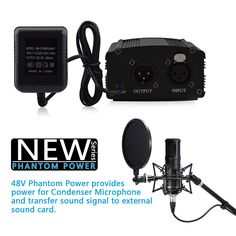 GEVO Phantom Power 48V Supply With Adapter And 3M Audio XLR Cable For Any Condenser Microphone Music Voice Recording Equipment   Read more at Electronic Pro Market : http://www.etproma.com/products/gevo-phantom-power-48v-supply-with-adapter-and-3m-audio-xlr-cable-for-any-condenser-microphone-music-voice-recording-equipment/             Features:           Delivers reliable 48V phantom power for condenser microphone, strenghen sound volume and improve the sound quality.