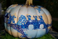 Blue and White Chinoiserie Pumpkin by WillowBlueandWhite on Etsy