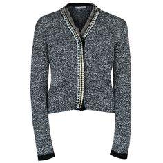 ALTUZARRA $1395 beaded mesh trim metallic boucle tweed cardigan sweater sz.S NEW #Altuzarra #Cardigan