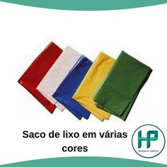 Sacos de lixo  várias cores. HP Higiene e Limpeza - Soluções para seu dia a dia.  43 3321 3232- Londrina.
