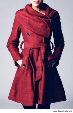 Gorgeous red winter coat