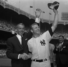 Mickey Mantle and Joe DiMaggio at Hall of Fame Event Date Photographed: September 1, 1965