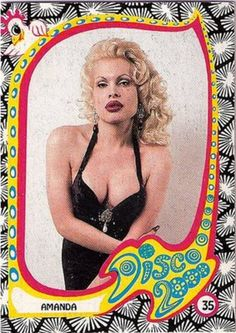 Amanda Lepore. Disco 2000 Club Kid card.