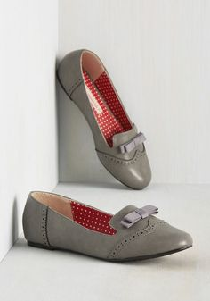 Just a Stone's Throwback Away Flat in Grey by B.A.I.T. Footwear