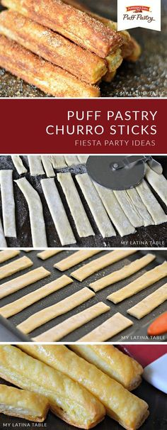 Add a modern twist to a classic Mexican dessert with these Quick and Easy Puff Pastry Churro Sticks from Charbel, of My Latina Table. You only need 4 ingredients to create this Cinco de Mayo treat: butter, sugar, cinnamon, and—of course—Pepperidge Farm®️️ Mini Desserts, Easy Desserts, Delicious Desserts, Yummy Food, Desserts With Puff Pastry, Puff Pastries, Easy Pastry Recipes, Puff Pastry Appetizers, Sweet Puff Pastry Recipes