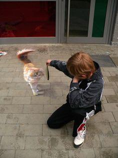 """3D street art by Nikolaj Arndt   """"Chalk it Up to Illusion: Hyperrealistic 3D Sidewalk Murals"""" (Web Urbanist)"""