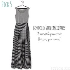 Ben Mixed Stripe Maxi Dress