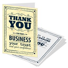 Business Referral Greeting Cards ~ because a referral is the highest compliment that you can give to a business/person.
