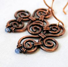 Periwinkle Agate Wire Wrapped Jewelry Modern by KariLuJewelry, $15.00