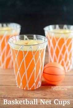 Basketball Net Cups! Easy party idea!