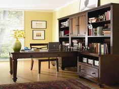 Cool Interior Workspace Furniture Office Home Office Supplies Elegant Office Adorable Modern Home Character Engaging Ikea Images Best Brown Polished Hardwood Desk Built In Cabinets Bookcase On Wooden Floo Bookcase Home Office Design Ideas