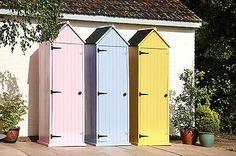Brighton Wooden Beach Hut Garden Tool Shed Sentry Box - Yellow