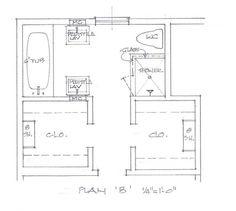 Website Picture Gallery Bathroom closet layout I ud put laundry room in one of the closets though