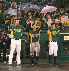 Randy Messenger, Hayata Itoh and Ryota Imanari (Hanshin Tigers)