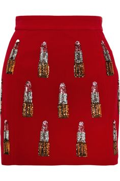 House of Holland | Sequin-embellished velvet mini skirt | NET-A-PORTER.COM