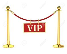 A Velvet Rope Barrier, With A Vip Sign Isolated On White ...
