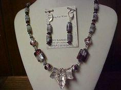 SALE Handmade necklace set matching 925 lever back by designer2