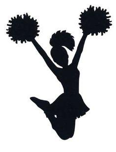 cheerleader silhouettes cheer silhouette cheering clipart rh pinterest com  cheer silhouette clip art