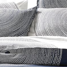Luxury Bed Linens For Less King Bedding Sets, Luxury Bedding Sets, Comforter Sets, Navy Duvet, Black And White Interior, Scandinavian Home, Marimekko, Unique Furniture, Linen Bedding