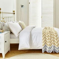 Helena Springfield Pale yellow cotton 'Lulu' bedding set   Debenhams