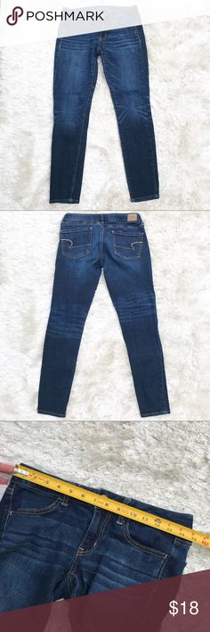 """AMERICAN EAGLE Skinny Jeans Super skinny jeans from AE. Waist approx. 15""""; inseam approx. 27"""". American Eagle Outfitters Jeans Skinny"""