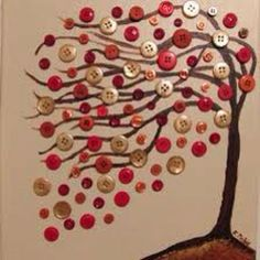cool idea with buttons , what if we did it with Woodsies and every student designed a leaf? Fun Fair silent auction idea?