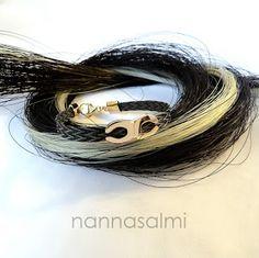 horsehair bracelet pferdehaar armband jouhirannekoru nannasalmi The original collection from Finland. Made of your own horse´s hair. www.nannasalmi.com