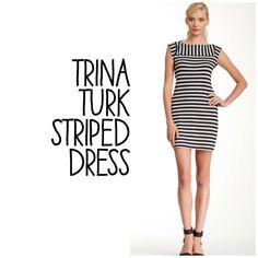Listing! Trina Turk Striped Dress Trina Turk striped dress NWT Gertrude dress Adorable back detail Black and grey stripes PayPal, Trades  Trina Turk Dresses