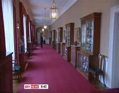 First part of the Private Corridor at second floor of East wing at Buckingham palace. Palace Uk, Royal Palace, Palais De Buckingham, Palace Interior, Royal Residence, Hall Design, Mansions Homes, Windsor Castle, Victoria