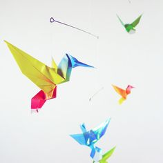 Mobile bébé origami oiseaux Creations, Articles, Gift Ideas, Fantasy, Handmade, Toy, Bebe, Homes