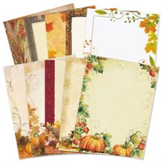 Fall Border Paper Variety Pack | PaperDirect