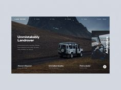 Land Rover Web Interactions scroll parallax scrolling parallax home page gif website design typography interaction ux web design branding animation ui Website Design Layout, Website Design Company, Web Layout, Pag Web, Las Vegas, Dynamic Design, Website Design Inspiration, Sketch Inspiration, Daily Inspiration