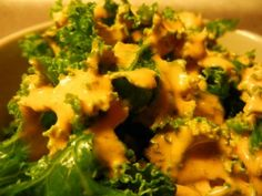 #vegan Sicilian Herb Tomato Dressing on Massaged Kale.  Great way to squeeze even more produce into a salad!