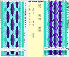 20 tarjetas, 4 / 5 colores, secuencia 4F-4B // sed_552 diseñado en GTT༺❁