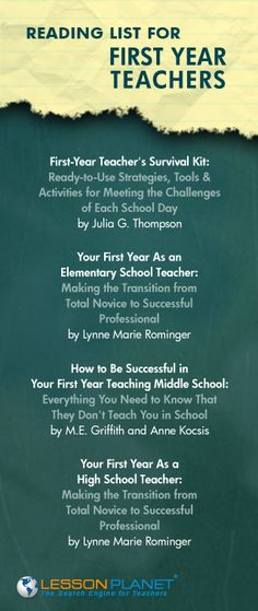 Reading list for first year teachers