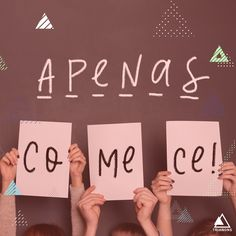 "Lettering Art: ""Apenas Comece!"" / Portfolio / Social Media Portfolio, Digital Marketing, Words, Frases, Digital Media, Social Networks"