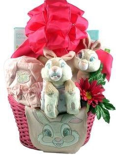 Little Miss Bunny gift basket for baby