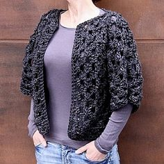 crochet patten - granny square shrug