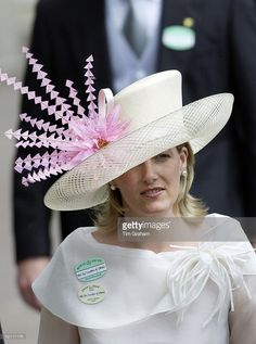 Sophie Countess Of Wessex In Exotic Hat On The Second Day At Royal Ascot Races - The Society Event Of The Year  (Photo by Tim Graham/Getty Images)