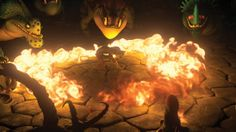 This was a picture for the HTTYD 2 trailer on the HTTYD website, and I don't remember this being in the trailer.  Look!  that is Hiccup in a ring of fire!  What's going on!!! I need to know!