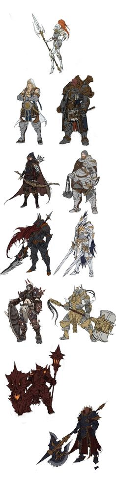 포트폴리오입니다~ : 네이버 카페 I love these! Especially the Lady-Knight in classic armor and the Anubis warrior.