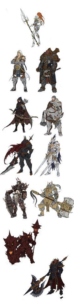포트폴리오입니다~ : 네이버 카페 I love these! Especially the Lady-Knight in classic armor and the Anubis warrior.