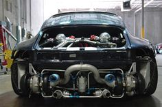 Porsche 911 Turbo intercooler and turbocharger details Porsche 993, Porsche 356 Speedster, Porsche Cars, Turbo Intercooler, Turbo System, Ferdinand Porsche, Porsche Design, Twin Turbo, Sport Cars
