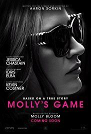 Molly's Game Directed by Aaron Sorkin. With Jessica Chastain, Idris Elba, Kevin Costner, Michael Cera. The true story of Molly Bloom, an Olympic-class skier who ran the world's most exclusive high-stakes poker game and became an FBI target. Movies And Series, Hd Movies, Movies To Watch, Movies Online, Movies And Tv Shows, 2018 Movies, Tv Series, Movies Free, Kevin Costner