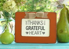 Give Thanks Grateful Fall Decor by abidingwordcreations on Etsy, $18.00